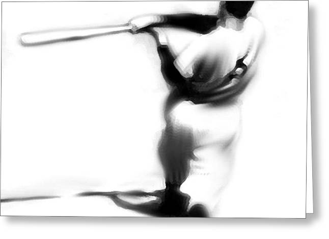 Yankees Greats Greeting Cards - The Swing III  Joe DiMaggio Greeting Card by Iconic Images Art Gallery David Pucciarelli
