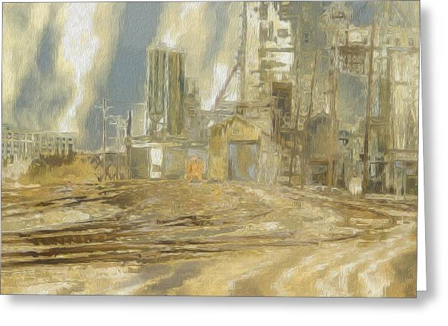 The Switch Yard Greeting Card by Jack Zulli