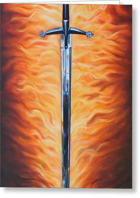 The Sword Of The Spirit Greeting Card by Ilse Kleyn