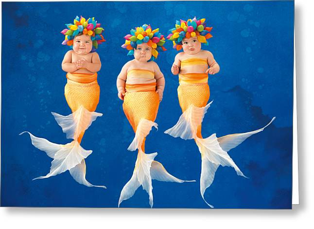 Babies Greeting Cards - The Synchronized Swim Team Greeting Card by Anne Geddes