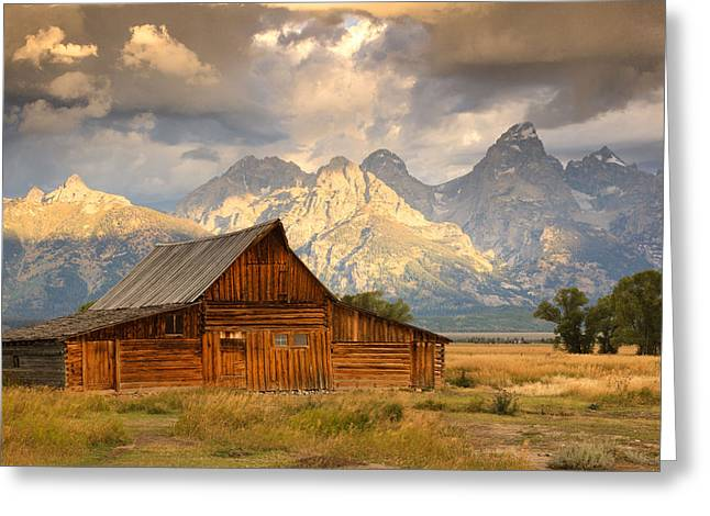 Jackson Pyrography Greeting Cards - The T. A. Moulton Barn Greeting Card by R Steven Diaz