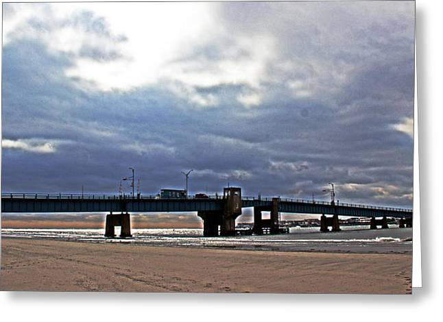 Townsends Inlet Greeting Cards - The T1 Bridge Greeting Card by Tom Gari Gallery-Three-Photography