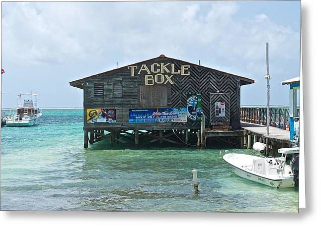 The Tackle Box Sign Greeting Card by Kristina Deane
