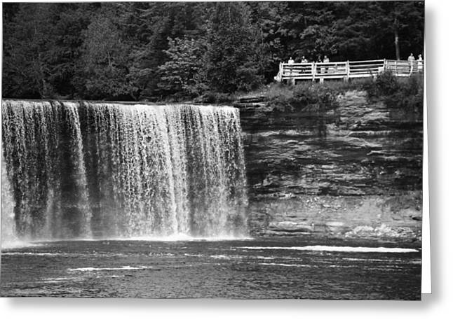 The Great Lakes Greeting Cards - The Tahquamenon Falls Upper Falls Greeting Card by Dan Sproul
