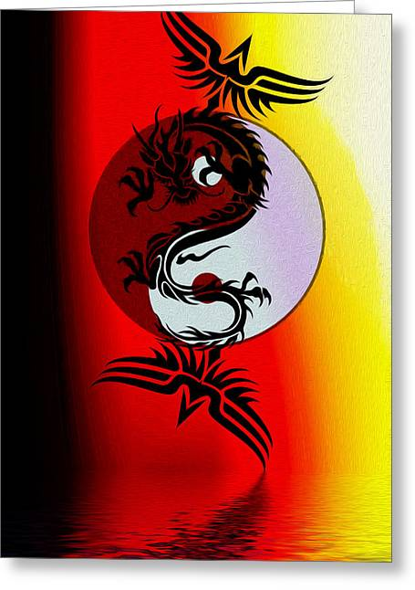 Yang Greeting Cards - The Tai Chi Project Greeting Card by Teri Schuster