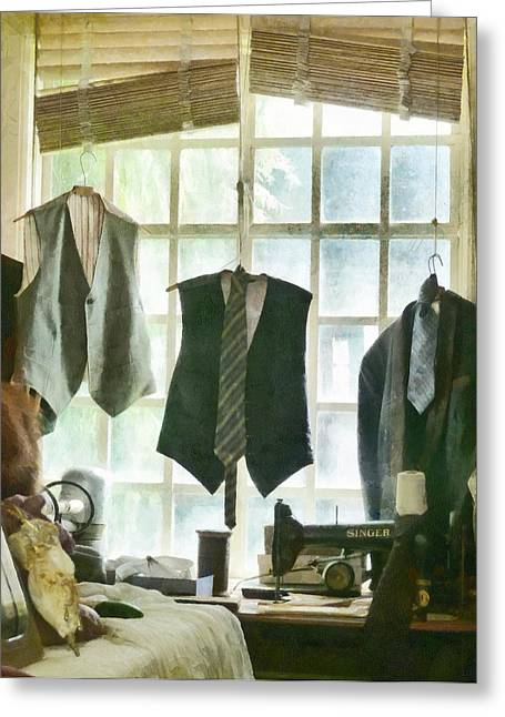 The Tailor Shop Greeting Card by Steve Taylor