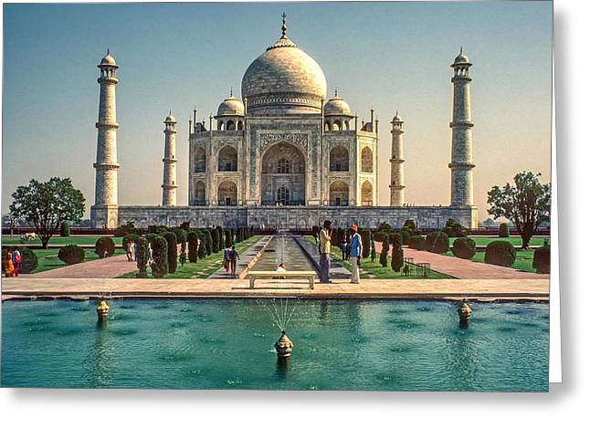 World Wonder Greeting Cards - The Taj Maha Greeting Card by Steve Harrington