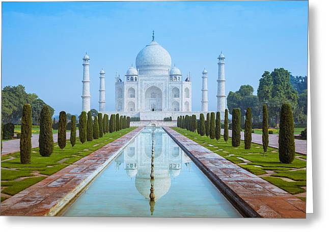 Newsom Greeting Cards - The Taj Mahal of India Greeting Card by Nila Newsom