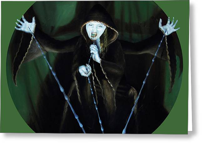 Gallery Sati Greeting Cards - The Taker Greeting Card by Shelley  Irish