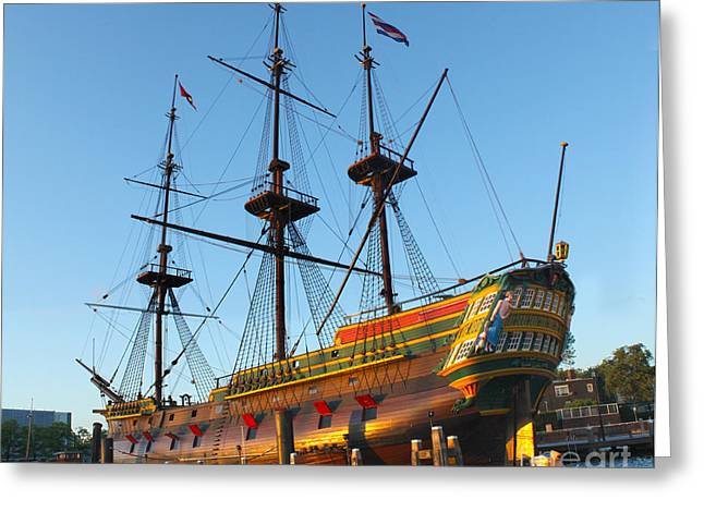 The Tall Clipper Ship Stad Amsterdam - Sailing Ship  - 04 Greeting Card by Gregory Dyer