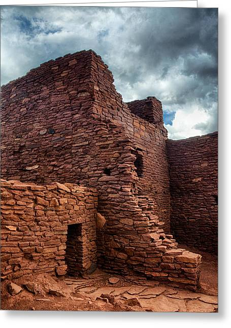 Ancient Ruins Greeting Cards - The Tall House  Greeting Card by Saija  Lehtonen