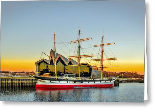 Charlotte Art Museums Greeting Cards - The Tall Ship Glenlee at Riverside Museum Glasgow Greeting Card by Tylie Duff