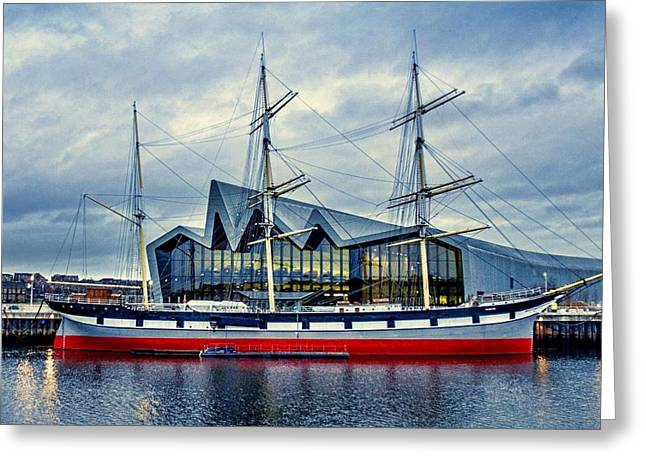 Charlotte Art Museums Greeting Cards - The Tall Ship Glenlee at the Riverside Museum Glasgow  Greeting Card by Tylie Duff