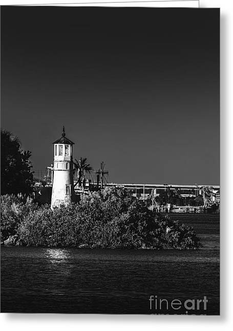 Cruise Ships Greeting Cards - The Tampa Lighthouse Greeting Card by Marvin Spates