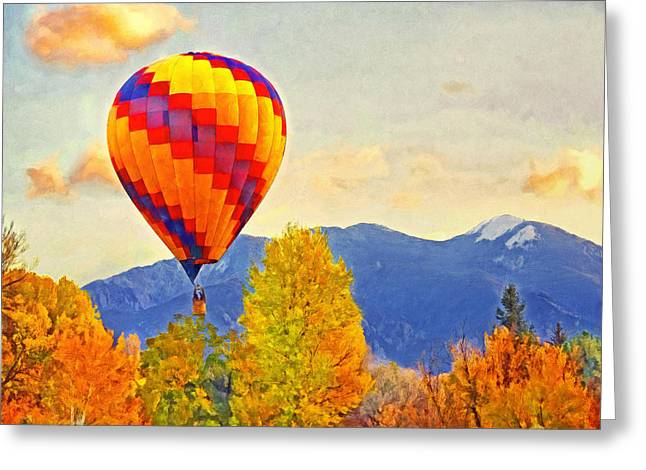 Taos Digital Greeting Cards - The Taos Mountain Balloon Rally 1 Greeting Card by Digital Photographic Arts