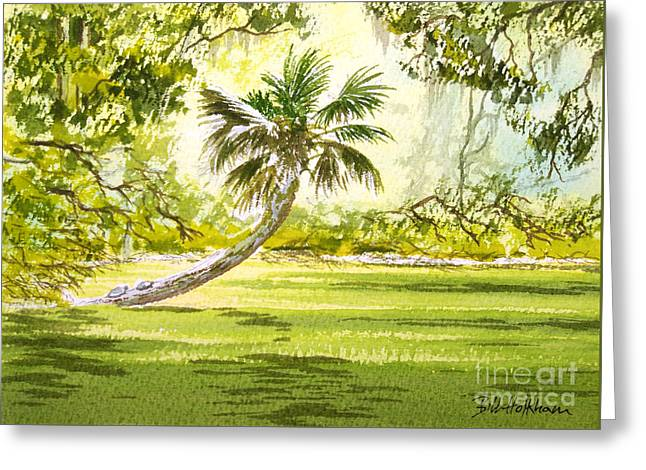 Manatee Springs Greeting Cards - The Tarzan Tree - Wakulla Springs State Park Greeting Card by Bill Holkham