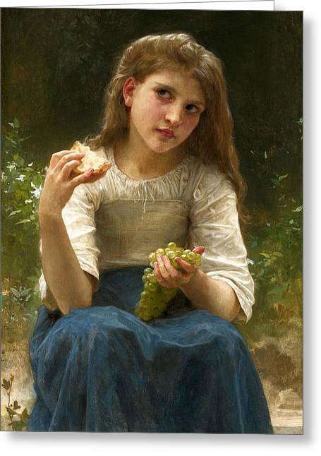 Romanticism Greeting Cards - The Taste Greeting Card by William-Adolphe Bouguereau