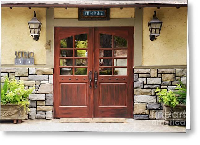 Wine Room Greeting Cards - The Tasting Room Greeting Card by Jon Neidert