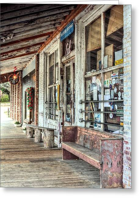 Grocery Store Greeting Cards - The Taylor Grocery Greeting Card by JC Findley