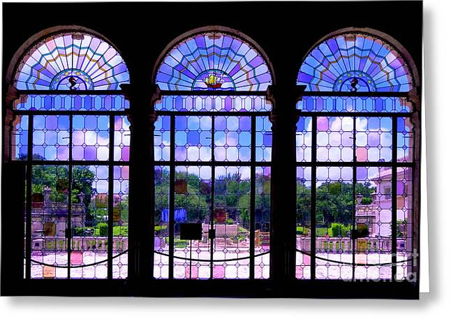 The Tea Room Vizcaya Museum and Gardens Biscayne Bay Miami Florida Greeting Card by Amy Cicconi