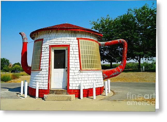 Scandal Greeting Cards - The Teapot Dome  Greeting Card by Jeff  Swan