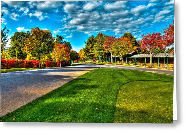 The Lake George Greeting Cards - The Tear Drop Lawn at the Sagamore Resort Greeting Card by David Patterson