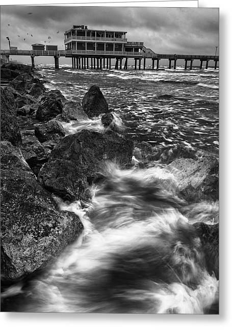 Galveston Photographs Greeting Cards - The Tempest Greeting Card by Silvio Ligutti