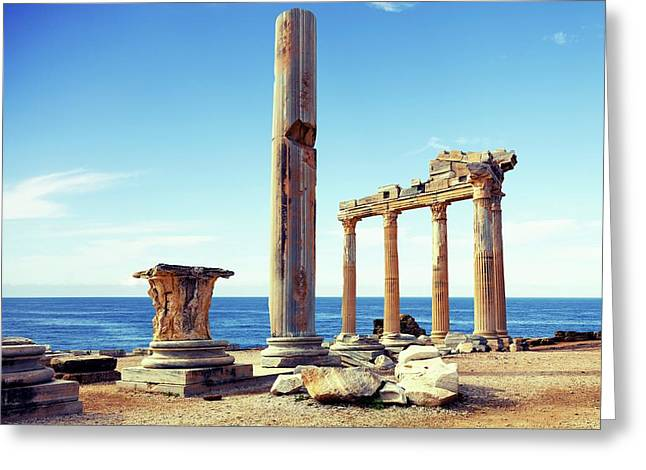 The Temple Of Apollo Greeting Card by Wladimir Bulgar