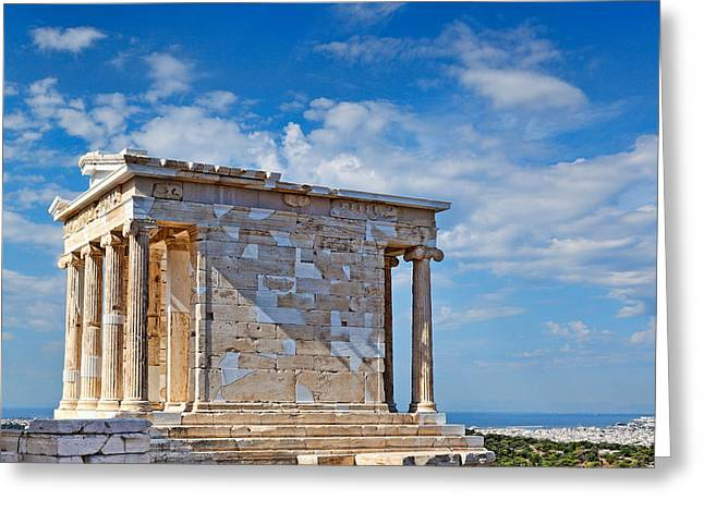 Apteros Greeting Cards - The Temple of Athena Nike - Greece Greeting Card by Constantinos Iliopoulos