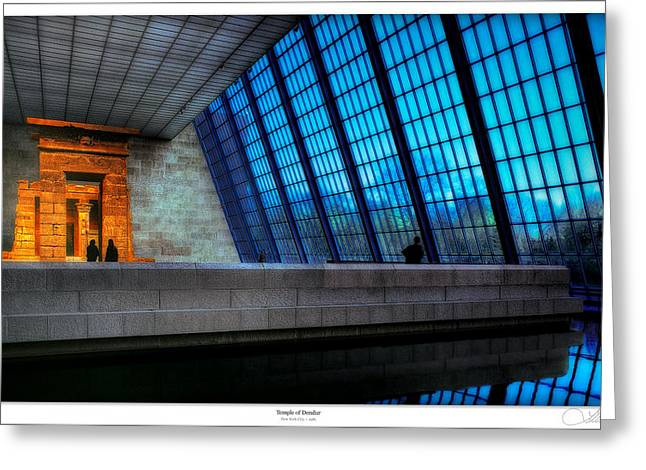 Monuments Greeting Cards - The Temple of Dendur Greeting Card by Lar Matre