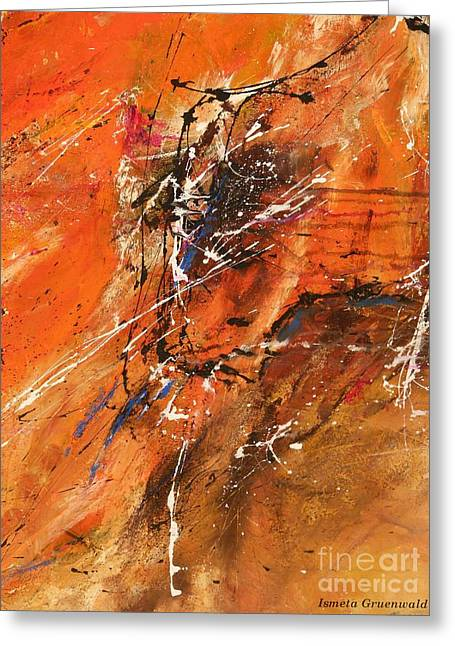 Ismeta Greeting Cards - The Temptation -Abstract Art Greeting Card by Ismeta Gruenwald