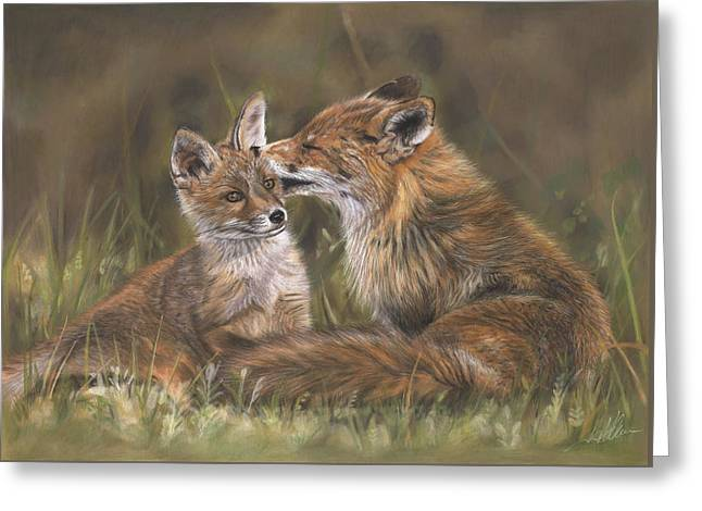 Baby Pastels Greeting Cards - The Tender Nudge Greeting Card by Terry Kirkland Cook