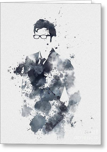 Doctor Who Greeting Cards - The Tenth Doctor Greeting Card by Rebecca Jenkins