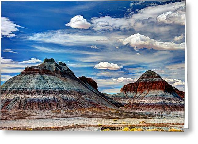 The Petrified Forest Greeting Cards - The Tepees Greeting Card by Larry Knupp