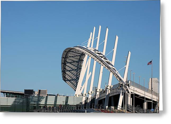 Staten Island Ferry Greeting Cards - The Terminal Greeting Card by JC Findley
