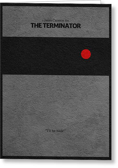 Schwarzenegger Greeting Cards - The Terminator Greeting Card by Ayse Deniz