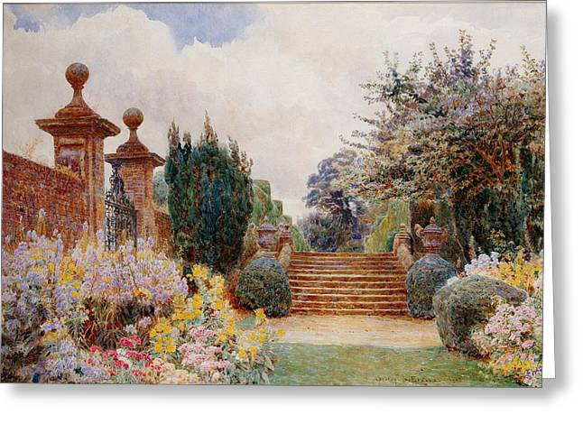 Shrubbery Greeting Cards - The Terrace Steps, Penshurst, 1903 Greeting Card by George Samuel Elgood