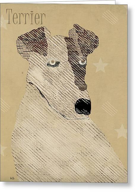 Terrier Digital Greeting Cards - The Terrier Dog  Greeting Card by Bri Buckley