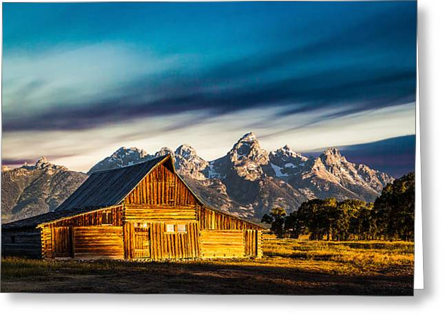 Jackson Greeting Cards - The Tetons Greeting Card by Peter Irwindale