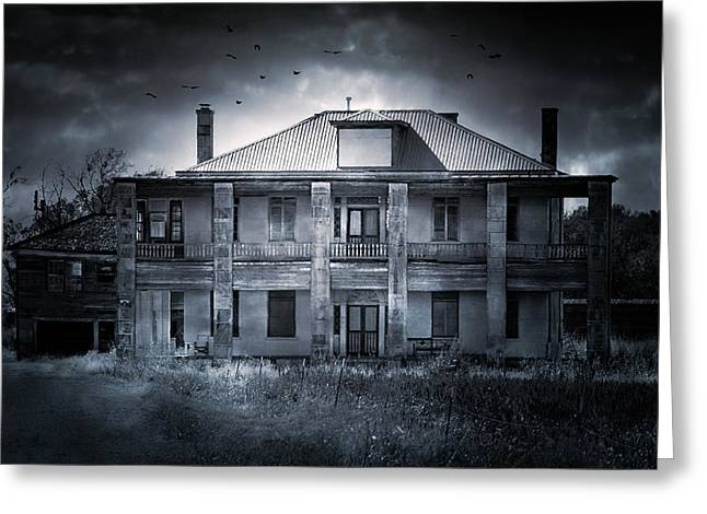 Evil House Greeting Cards - TCM - Hewitt House #9 Greeting Card by Trish Mistric