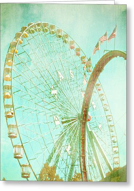 State Fairs Greeting Cards - The Texas Star Ferris Wheel Greeting Card by David and Carol Kelly