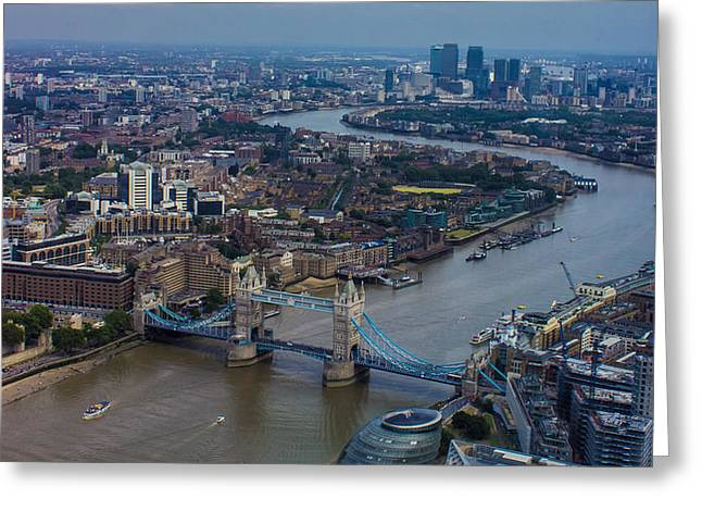 Thames Greeting Cards - The Thames Greeting Card by Martin Newman