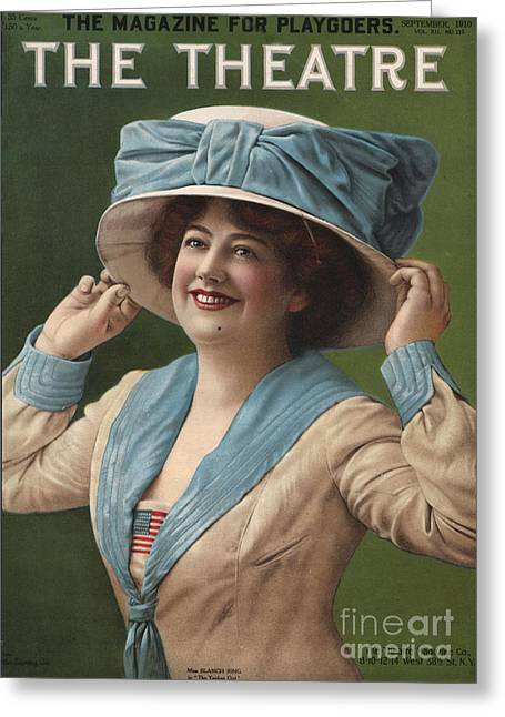 Nineteen-tens Greeting Cards - The Theatre 1910 1910s Usa Magazines Greeting Card by The Advertising Archives