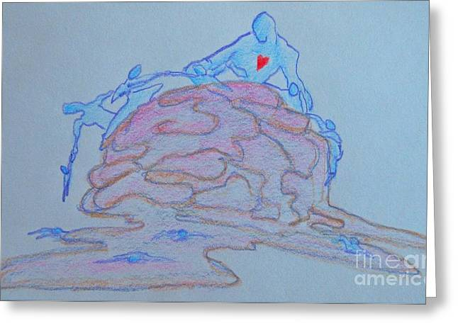 Psychology Drawings Greeting Cards - The Therapist Greeting Card by John Malone