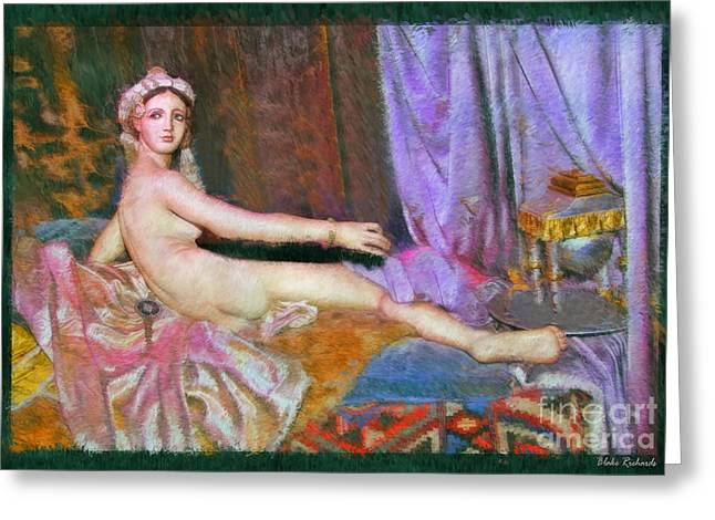 Odalisque Photographs Greeting Cards - The Thin Grande Odalisque Greeting Card by Blake Richards