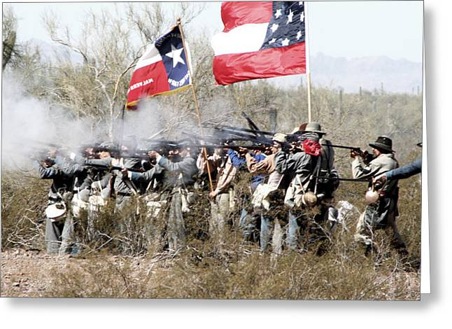 Confederate Flag Photographs Greeting Cards - The Thin Gray Line Greeting Card by Joe Kozlowski