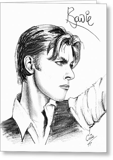 Ziggy Stardust Greeting Cards - The Thin White Duke Greeting Card by Cristophers Dream Artistry