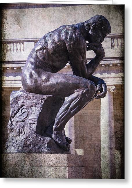 Thinker Greeting Cards - The Thinker Greeting Card by Garry Gay