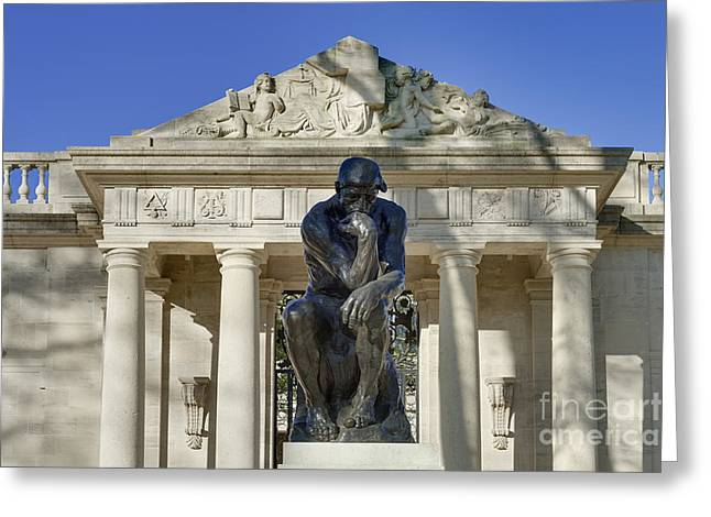 Rational Greeting Cards - The Thinker Greeting Card by John Greim