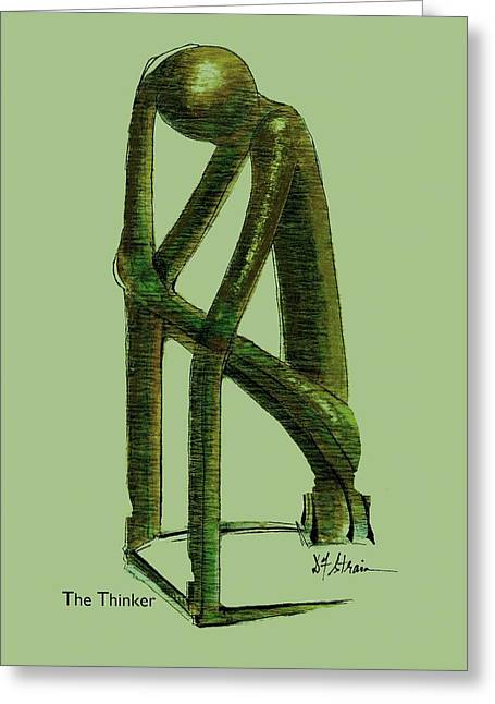 Fineartamerica Greeting Cards - The Thinker   Number 10 Greeting Card by Diane Strain